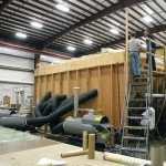 Building an 88-foot carbon prepreg hull in Anacortes, Washington.