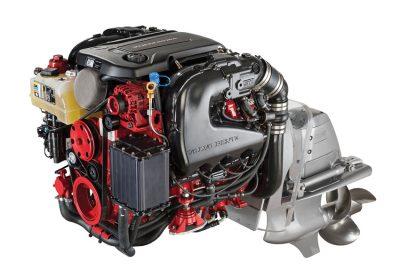 Volvo Penta's new line of 5.3L V8 gasoline engines is based on General Motors' Gen V platform with direct fuel injection, all-aluminum block, and variable valve timing.