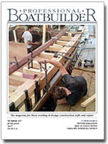 Cover of latest issue of Professional BoatBuilder magazine.