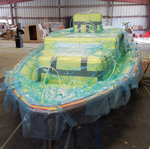 The hull and deck are cored with Corecell and infused.