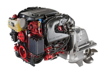 Volvo Penta's new line of 5.3L V8 gasoline engines is based on General Motors' Gen V platform with direct fuel injection, all-aluminum block, and variable valve timing.