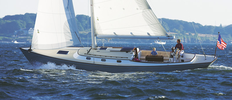 Bruckmann Yachts developed the Doug Zurn–designed Bruckmann Daysailer (42'/12.8m) for a single client, and then put it into series production to compete with the Hinckley DS42 and the Morris M36.
