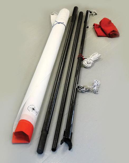 mast kit made of carbon fiber tubes