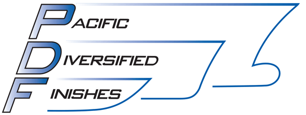 Pacific Diversified Finishes logo.