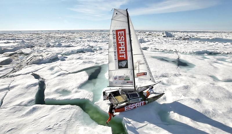 Boat sailing Northwest Passage