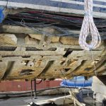 Oyster Marine yacht hull damage