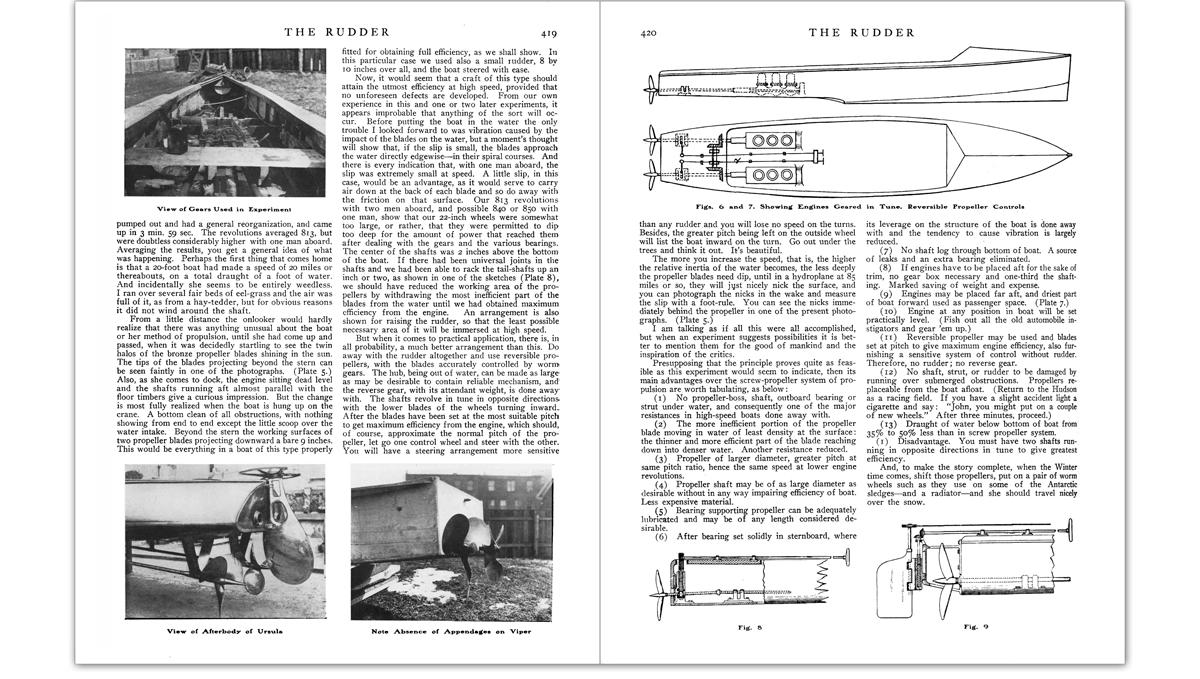 Rudder magazine article image