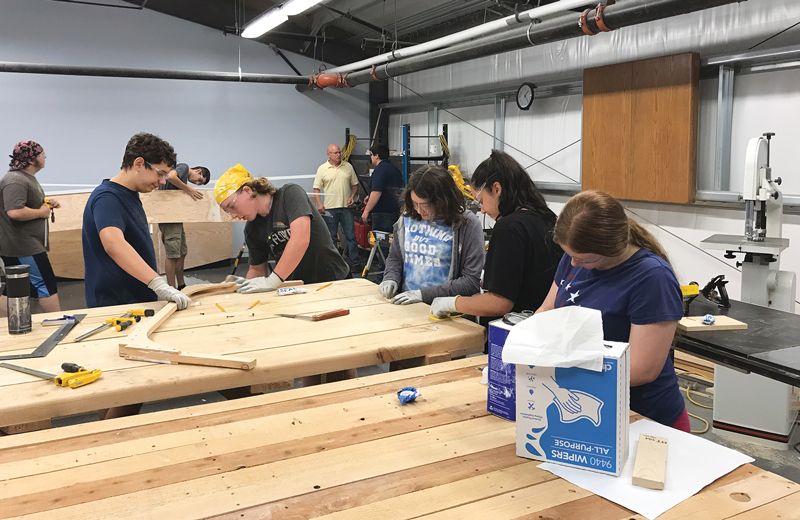 CCRI Youth Summer Boatbuilding Program