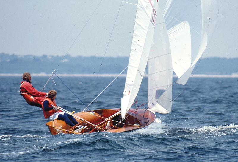 Mark Lindsay racing an International 505