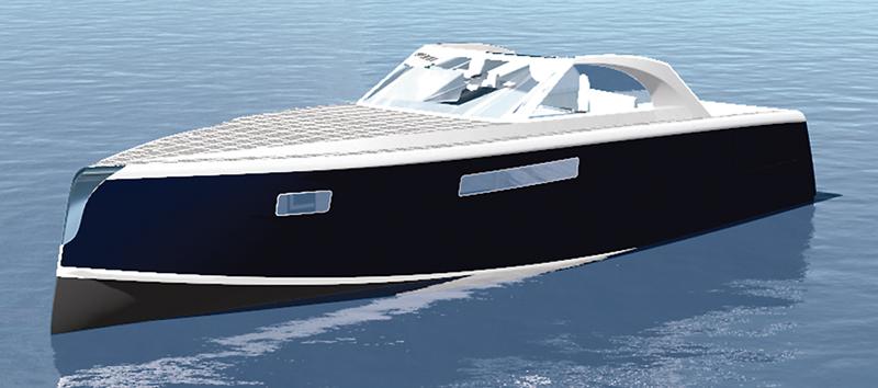 Nicholas Fletcher's 50' (15.2m) electric-powered cruiser