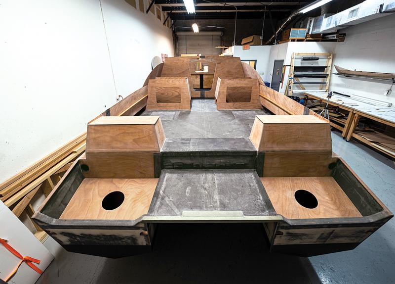 deck construction with carbon fiber