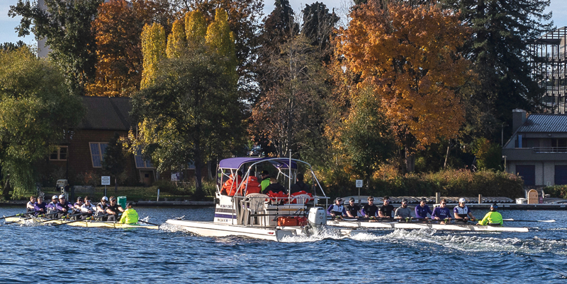 UW Eights with coach boat
