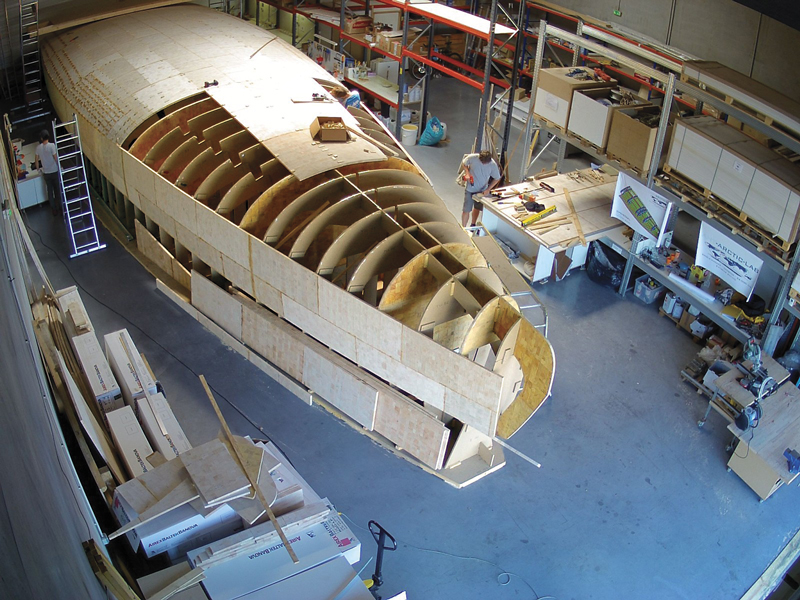 Eco composite hull with balsa core