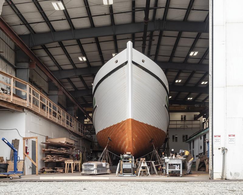 Western Flyer Hull, Shipwright Tim Lee